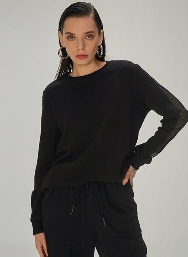 NGSTYLE Kadın Garni Detaylı  Sweatshirt NGKAW20SW0017 Siyah